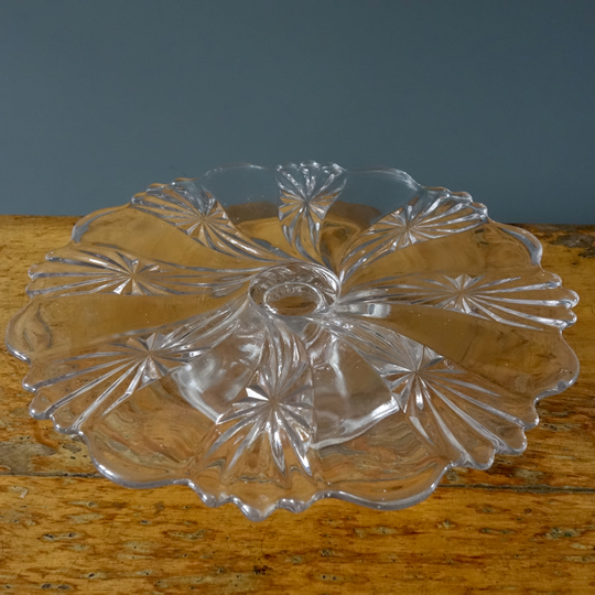 Vintage glass cake stand -H-