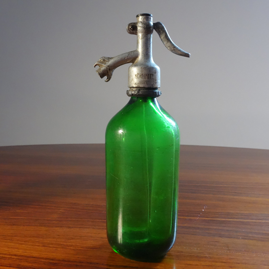 Antique Seltzer Soda Siphon Bottle -B-