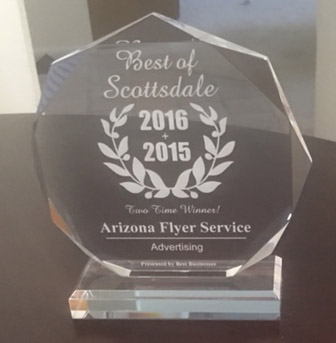 Award Plaque for Best of Scottsdale