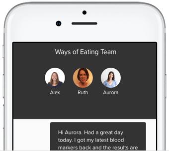 Screenshot of the app's coach screen