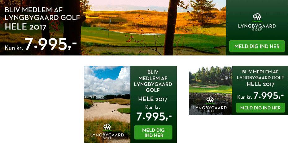 lyngbygaard golf HTML5 bannerproduktion