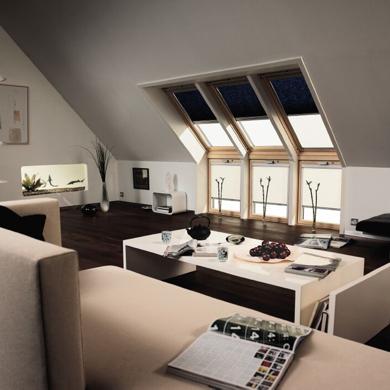navy velux roof blinds
