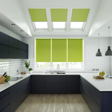 stunning green velux blinds to match kitchen roller blinds