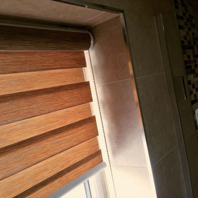 wood effect vision blinds shown when closed