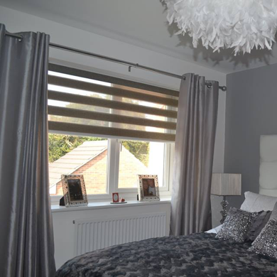 vision blind fitted in a customers bedroom