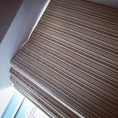 striped roman blind