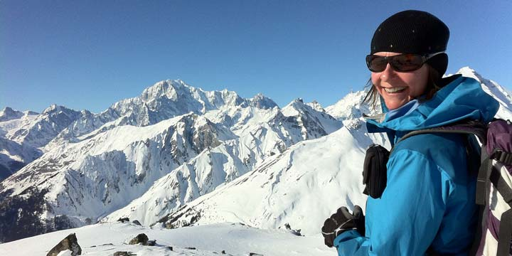 Guided Alpine snowshoeing, trekking and walking with Mountain Balance