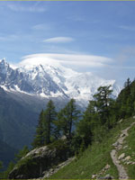alking and trekking Tour du Mont Blanc, Walker's Haute Route, Chamonix, French Alps