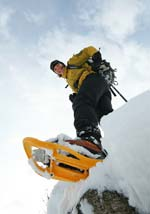 Guided snowshoeing, Chamonix, the French Alps with Mountain Balance