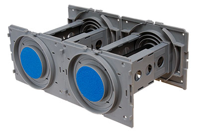 Sewatek wall penetrations allow flexible construction of different feed-through assemblies, depending on the line pipes.