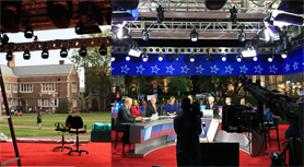 Presidential Debates Stage Before and After