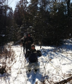 Judith and A Rocha team mark out new recreation trail at Cedar Haven Farm
