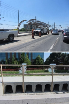 VivaNext, Highway 7, mediums under construction.