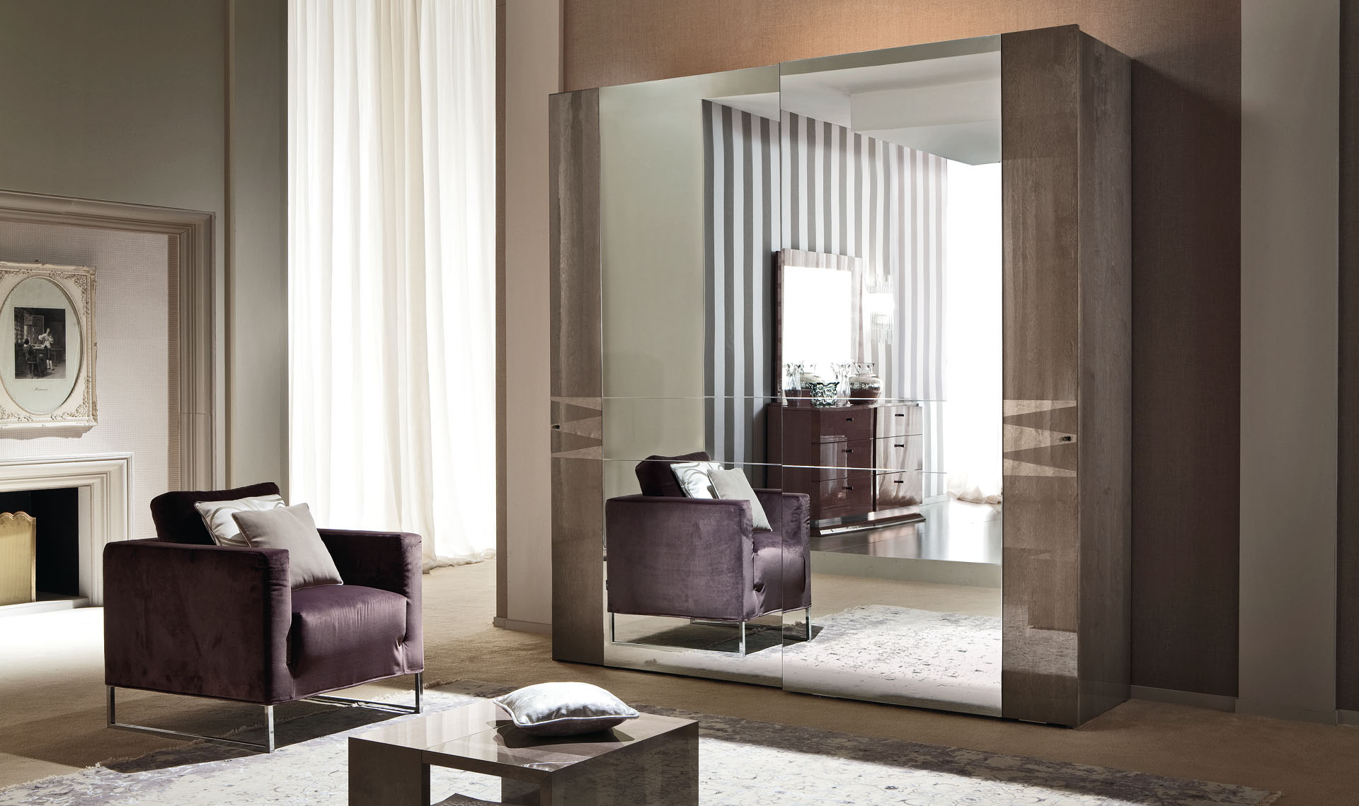 Monaco Bedroom 2/D Sliding Wardrobe