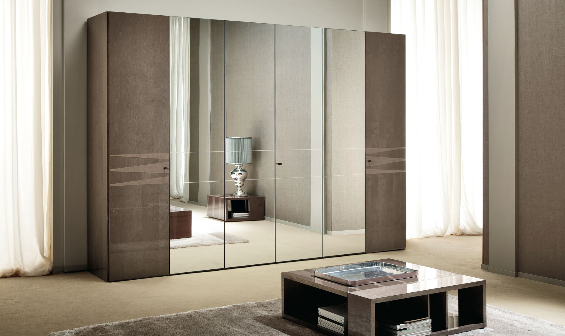 Monaco Bedroom 6/D Swinging Wardrobe