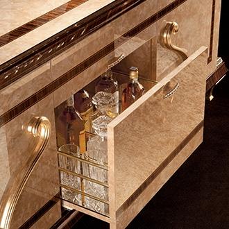 Rossini Dining room four door buffet open bar