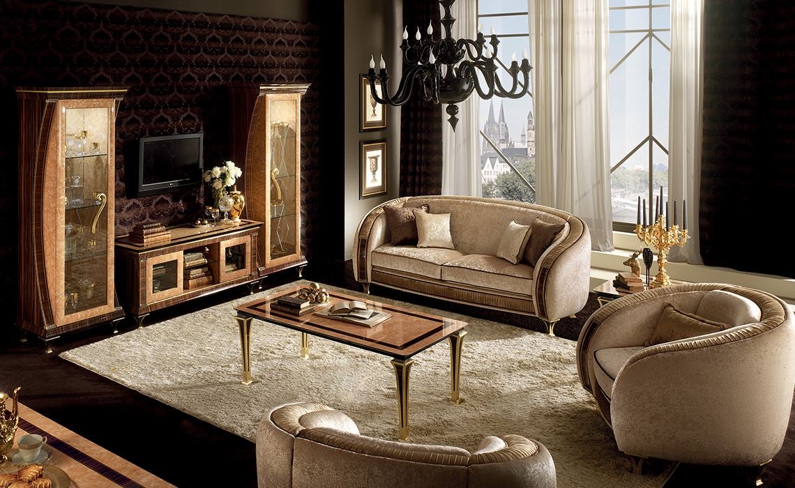 Rossini Living room Sofa seat with TV Compostion