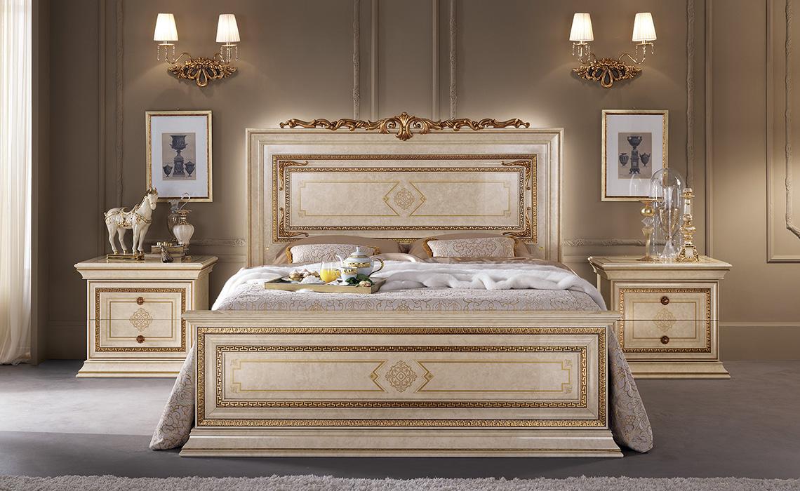 Leonardo Bedroom bed and night tables