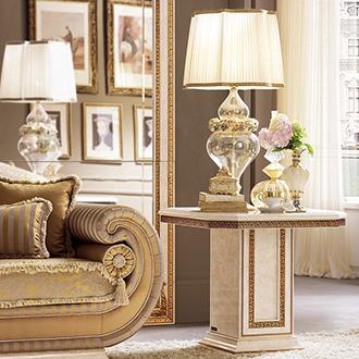 Leonardo Living Room two seats sofa armrest