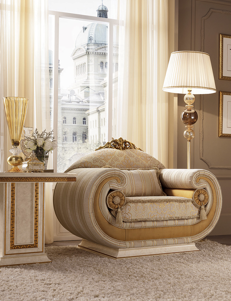 Leonardo Living Room armchair armrest corner curio