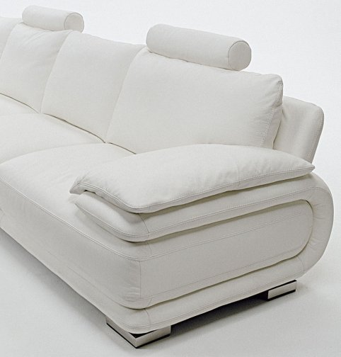 Atlantic leather sofas deluxe front angle view