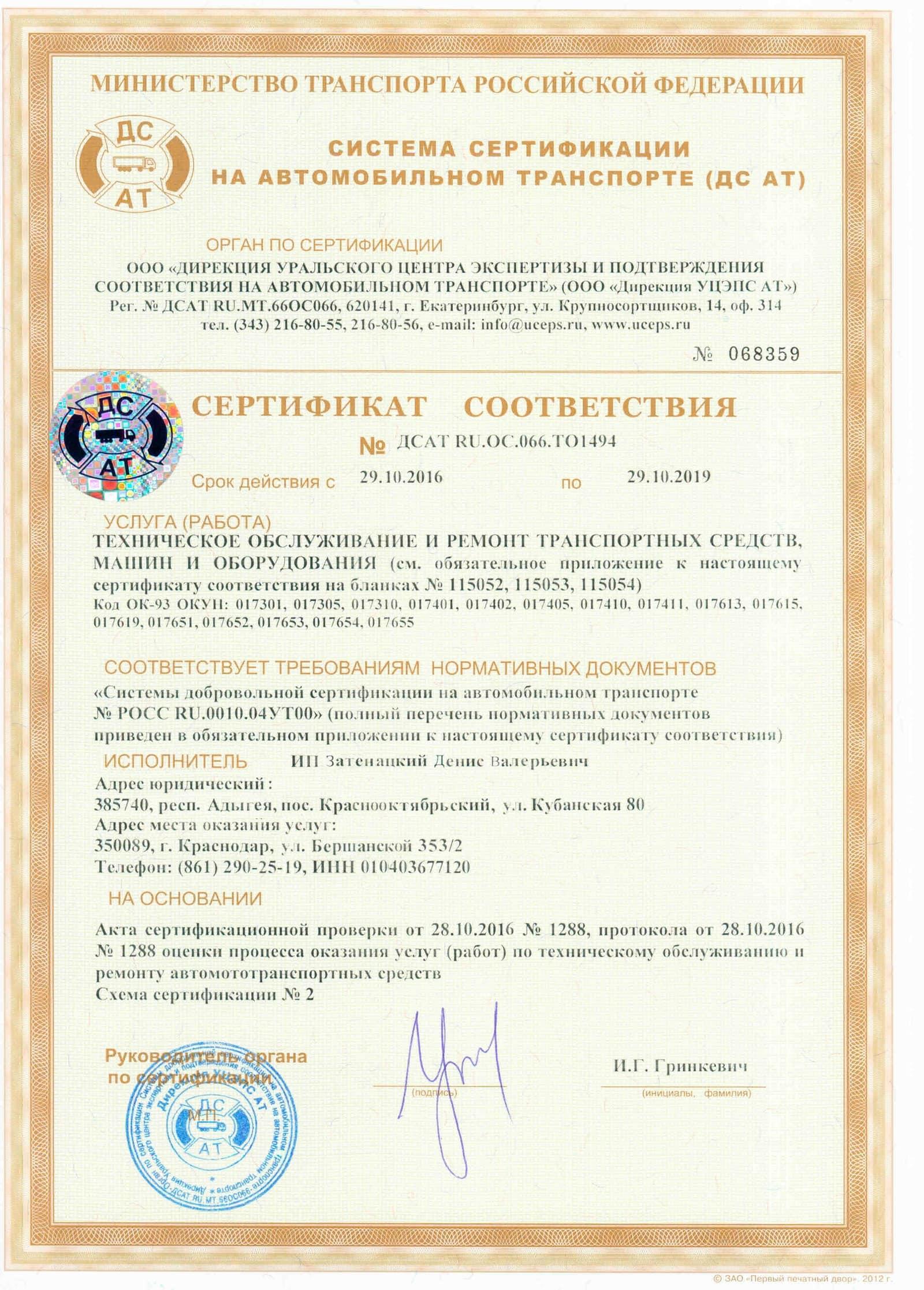 Схемы подтверждения соответствия добровольной сертификации
