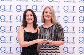 Wendy Miles QC and Noiana Marigo accepting the GAR Award for 'Best Development