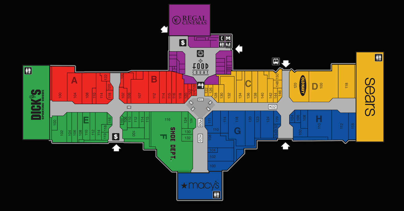 The Great Northern Mall Map