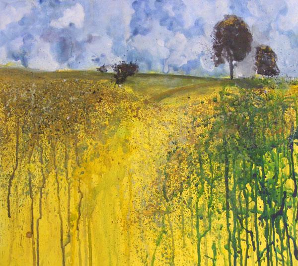 Painting by Jessie Wybrew