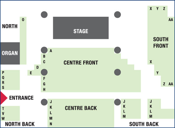 Seating Plan in St Mary's Church