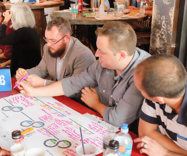 Design process mapping at Maga offsite