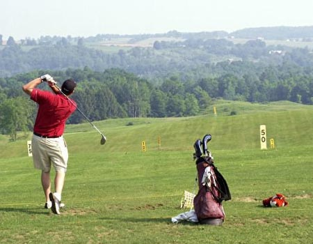 Golf with a view at Elm Tree Golf Course