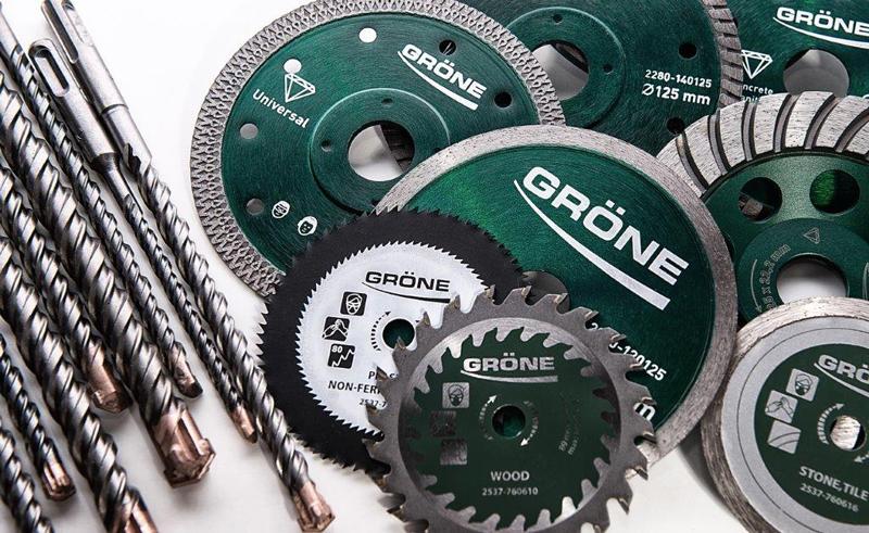 Dažādu sistēmu ierīkošanas Gröne elektroinstrumentu aprīkojums