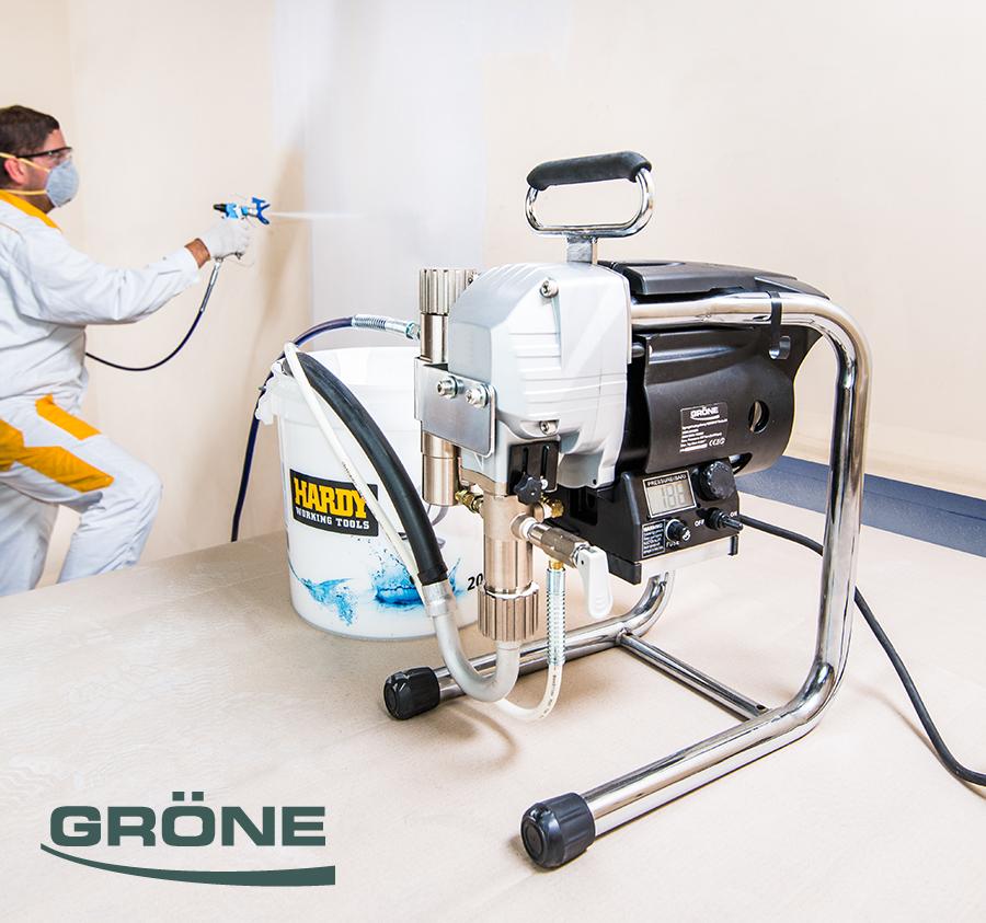 Gröne mācību un servisa centrs krāsošanas ierīču, darbarīku un elektroinstrumentu profesionālai izmantošanai