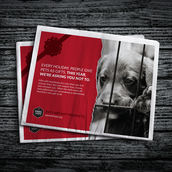 Campaign design for a Vancouver animal welfare organization.