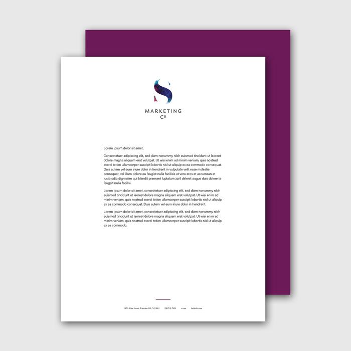 Flipside Creative, Letterhead Design for S Marketing Co