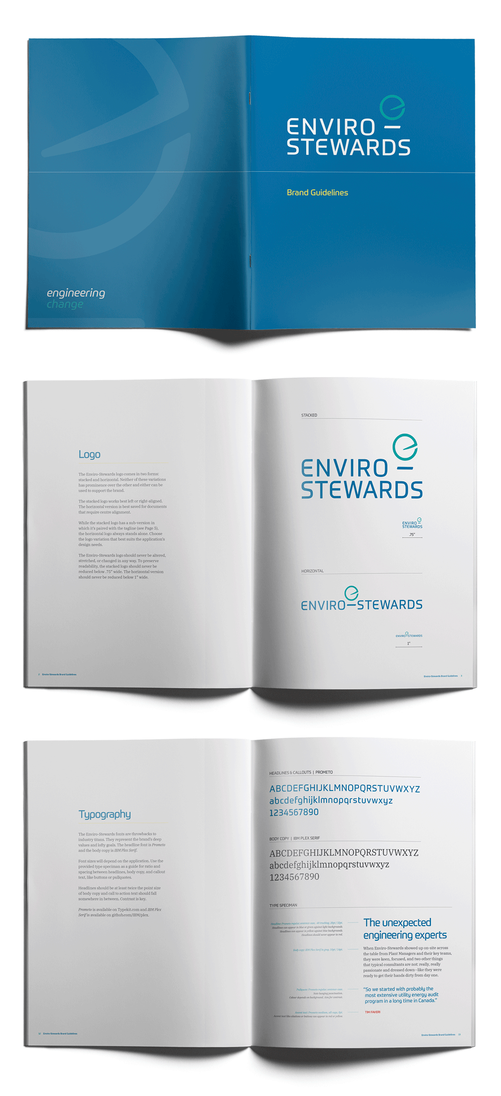 Enviro-Stewards brand design by Flipside Creative