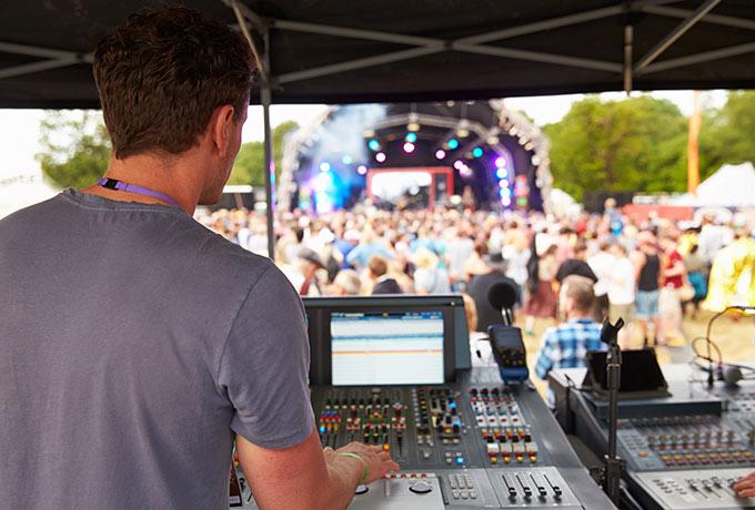 Live concert sound engineering