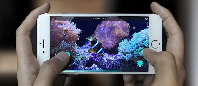 Трансляция видео из аквариума MOAI