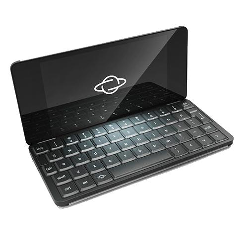Gemini PDA - ноутбук, умещающийся в кармане. Устройство размером со смартфон с полноценной клавиатурой.