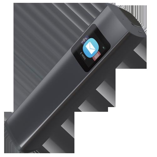 Pup - это портативный сканер, который позволяет получить качественное изображение в одно нажатие. Просто обхватите нужный документ лазерной рамкой и нажмите кнопку, Pup сам определит яркость вспышки, выпрямит изгибы бумаги и переведет документ в нужный вам формат.