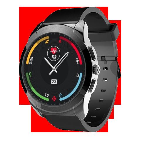 Гибрид умных и обычных часов, созданный швейцарской компанией MyKronoz. Оснащены механическими стрелками, и сенсорным дисплеем одновременно, способны показывать точное время до 30 дней на одной зарядке.