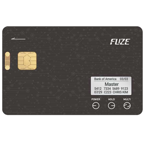 Fuze - одна пластиковая карточка, которая собой заменит все остальные карты. Она сделает ваш кошелек тоньше и сохраннее.