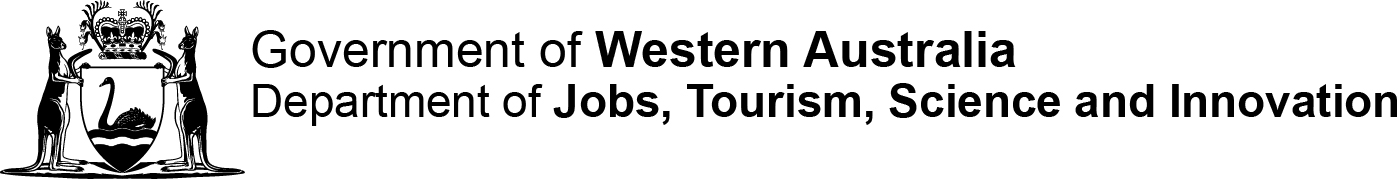 Government of Western Australia Department of Jobs, Tourism, Science & Innovation