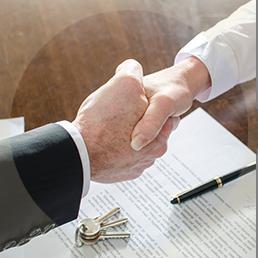 B lending handshake