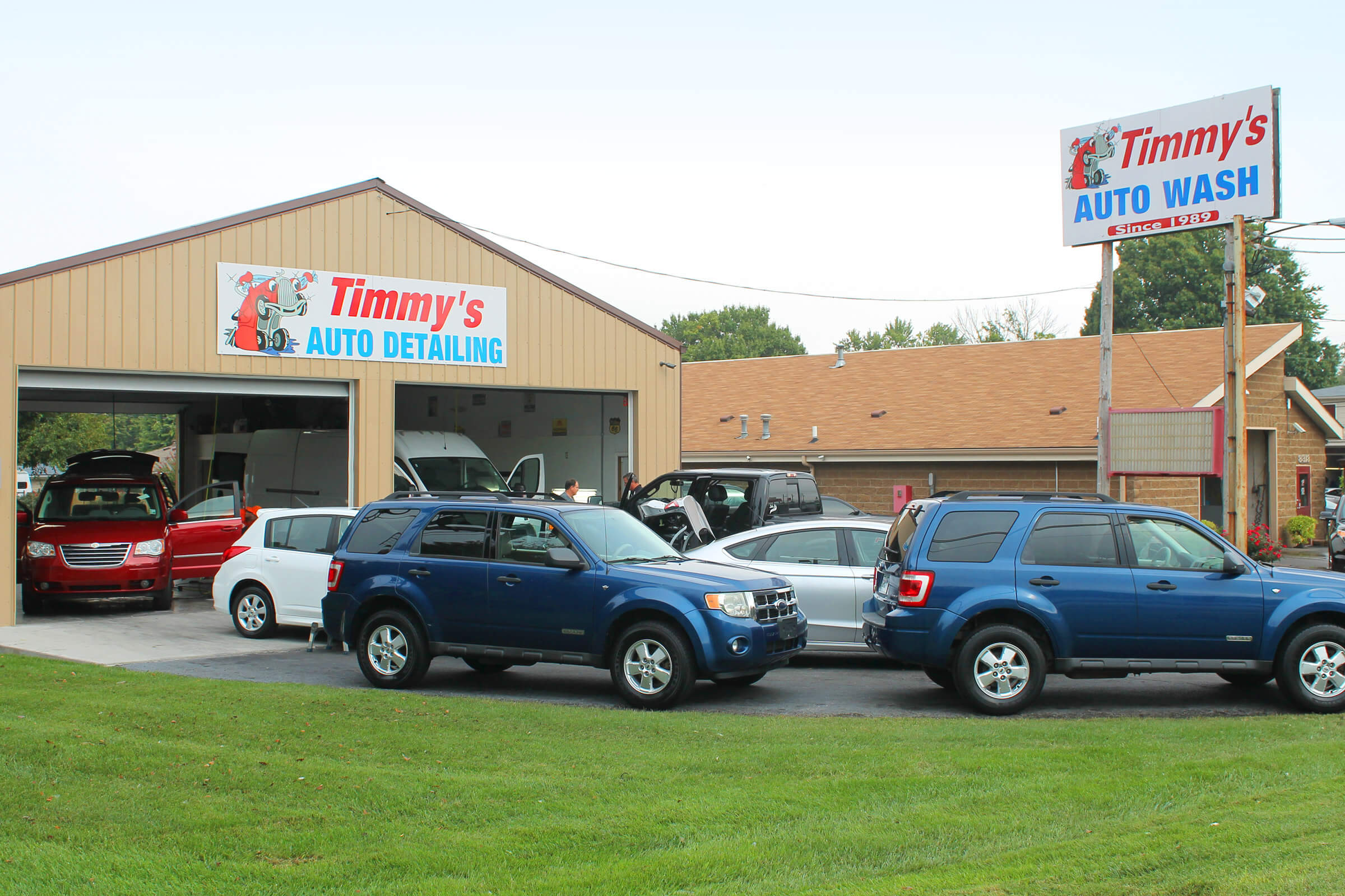 Timmys auto wash nobody takes care of our neighbors like we do heck we will even clean the cheerios out of the back of your minivan when that time comes solutioingenieria Choice Image