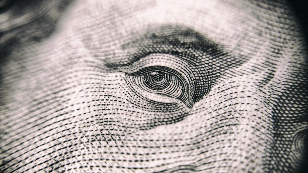 Closeup of $100 bill