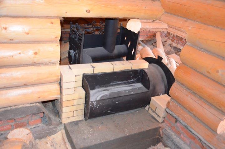 Печь в баню горыныч