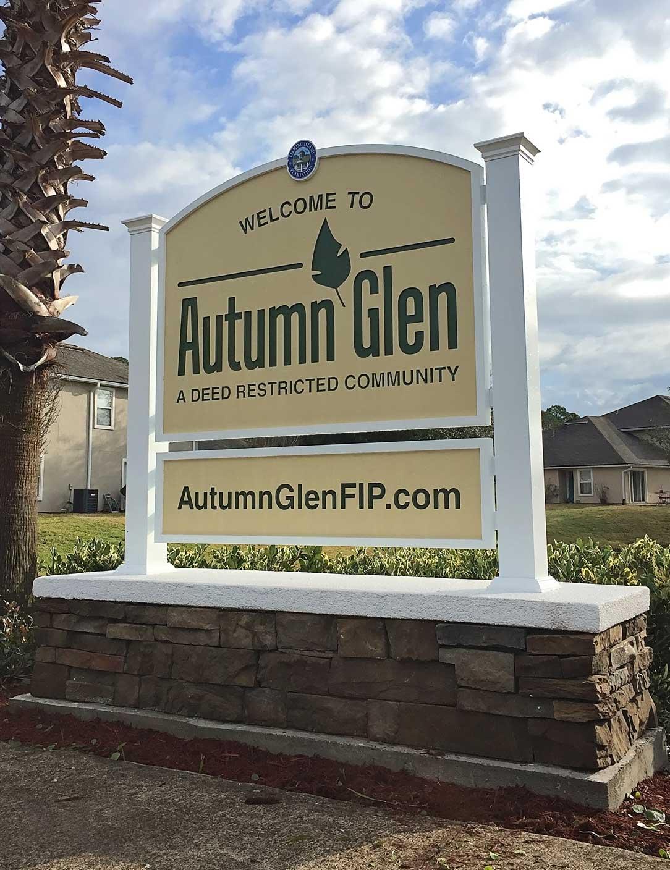 Autumn Glen entrance sign