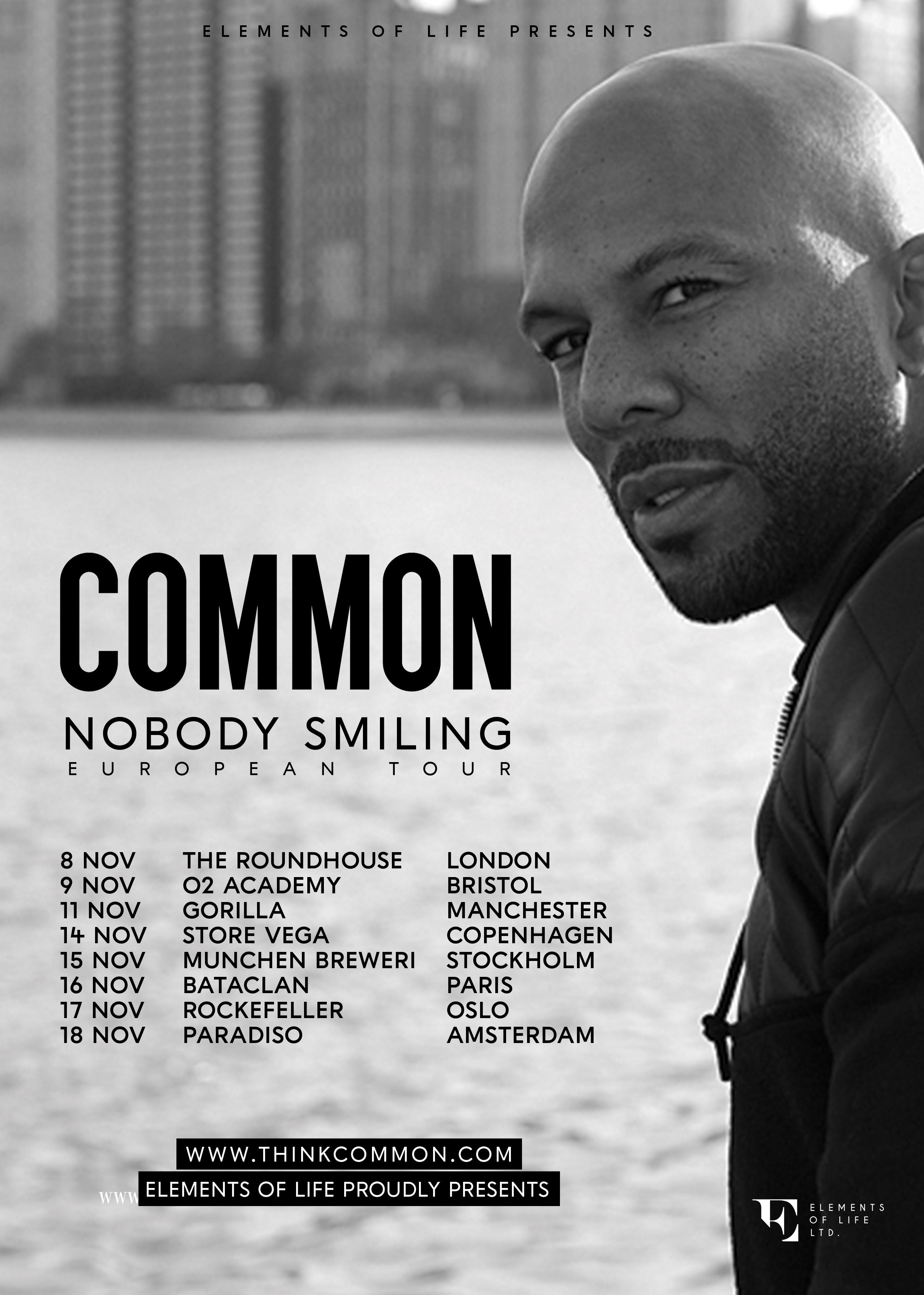 COMMON Nobody Smiling Tour